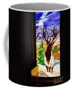 Elk Stained Glass Window Coffee Mug by Robert Bales