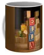Ella - Alphabet Blocks Coffee Mug