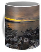 Elliott Bay Seattle Evening Coffee Mug