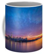 Ellis Island And Manhattan Sunrise Coffee Mug