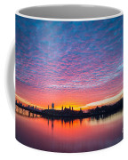 Ellis Island Silhouette Sunrise Coffee Mug