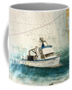 Elly Crab Fishing Boat Nautical Chart Map Art Coffee Mug