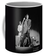 Elvis Presley And Bill Black Performing In 1956 Coffee Mug
