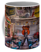 Elvis Presley At Albuquerque's 66 Diner Coffee Mug