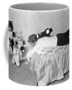 Elvis Presley At Home With His Teddy Bears 1956 Coffee Mug