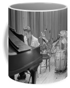 Elvis Presley On Piano Waiting For A Show To Start 1956 Coffee Mug