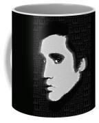Elvis Presley Silhouette On Black Coffee Mug