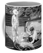 Elvis Presley With His Messerschmitt Micro Car 1956 Coffee Mug