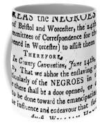 Emancipation Notice, 1775 Coffee Mug