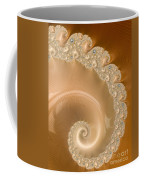 Embellished Blond Wood Coffee Mug