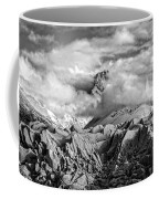 Embraced By Clouds Black And White Coffee Mug