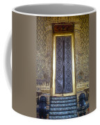 Emerald Buddha Temple Door Coffee Mug