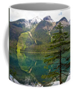 Emerald Lake Reflection And Pine Tree In Yoho National Park-british Columbia-canada Coffee Mug