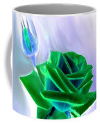 Emerald Rose Watercolor Coffee Mug