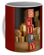Emily - Alphabet Blocks Coffee Mug