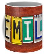 Emily License Plate Name Sign Fun Kid Room Decor Coffee Mug
