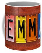 Emma License Plate Name Sign Fun Kid Room Decor Coffee Mug