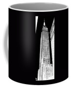Empire State Building In Constrasting White Coffee Mug