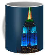 Empire State Building Lit Up At Night Coffee Mug