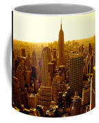 Manhattan And Empire State Building Coffee Mug