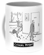 Employees Follow A Trial Of Money From A Man Coffee Mug