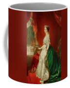Empress Eugenie Of France 1826-1920 Wife Of Napoleon Bonaparte IIi 1808-73 Oil On Canvas Coffee Mug