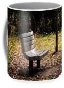 Empty Bench Meditation Spot Coffee Mug