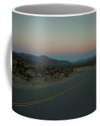 Empty Road In Desert At Sunset Coffee Mug