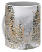 Empty Road Passing Through A Forest Coffee Mug