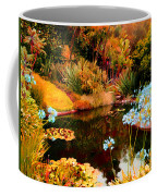 Enchaned Blue Lily Pond Coffee Mug