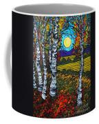 End Of Summer Birches Coffee Mug