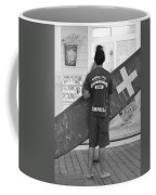 End Of The Day - Black And White Coffee Mug