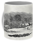 Endpiece, Late 18th Or Early 19th Century Wood Engraving 99;landscape; Winter; Figure; Snow; Snowy; Coffee Mug