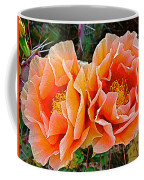 Engelmann Prickly Pear Cactus Flowers In Big Bend National Park-texas Coffee Mug