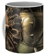 Radial Engine And Fuselage Detail - Radial Engine Aluminum Fuselage Vintage Aircraft Coffee Mug by Gary Heller