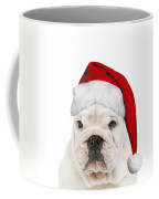 English Bulldog In Christmas Hat Coffee Mug