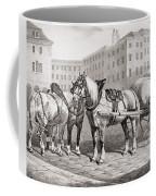 English Farm Horses, 1823 Coffee Mug
