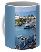 Enjoying The Harbor View Coffee Mug