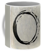 Enso No. 107 Black On Taupe Coffee Mug by Julie Niemela