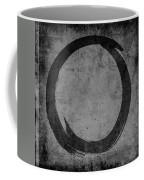 Enso No. 108 Black On Gray Coffee Mug by Julie Niemela