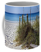 Enter The Beach Coffee Mug by Susan Leggett
