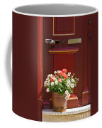 Entrance Door With Flowers Coffee Mug by Heiko Koehrer-Wagner