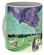 Entrance To A Large Garden In Dresden Coffee Mug by Ernst Ludwig Kirchner