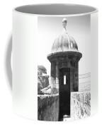 Entrance To Sentry Tower Castillo San Felipe Del Morro Fortress San Juan Puerto Rico Bw Film Grain Coffee Mug
