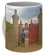 Entry To Fortress In Louisbourg Living History Museum-1744-ns Coffee Mug