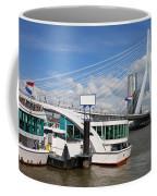 Erasmus Bridge In Rotterdam Downtown Coffee Mug by Artur Bogacki