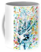 Eric Clapton - Watercolor Portrait Coffee Mug