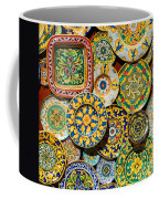 Erice Sicily Plates Yellow Coffee Mug