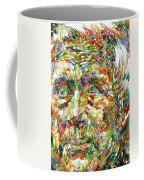 Ernst Junger Watercolor Portrait Coffee Mug