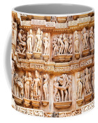Erotic Human Sculptures Khajuraho India Coffee Mug